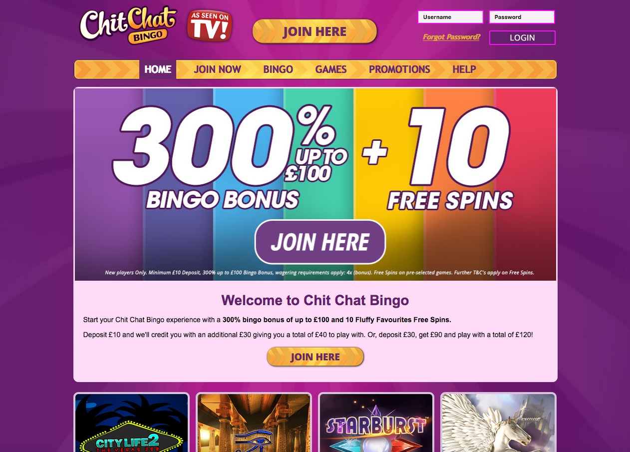 chit chat bingo lobby