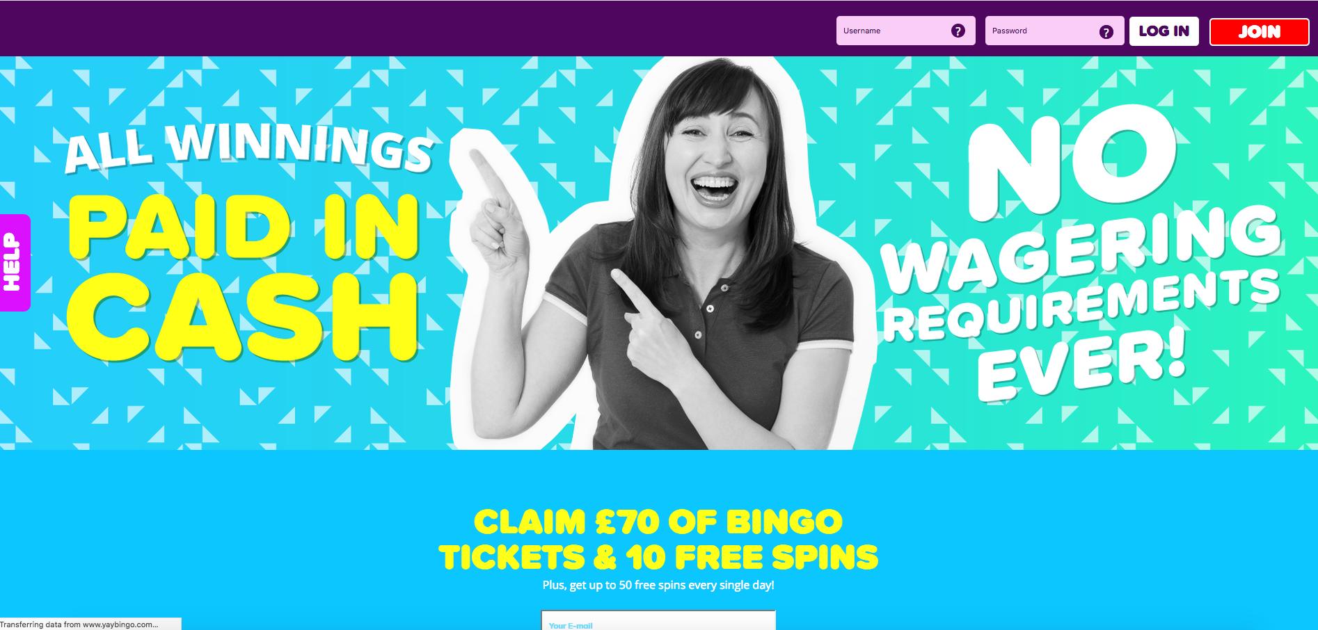 Yay Bingo Lobby