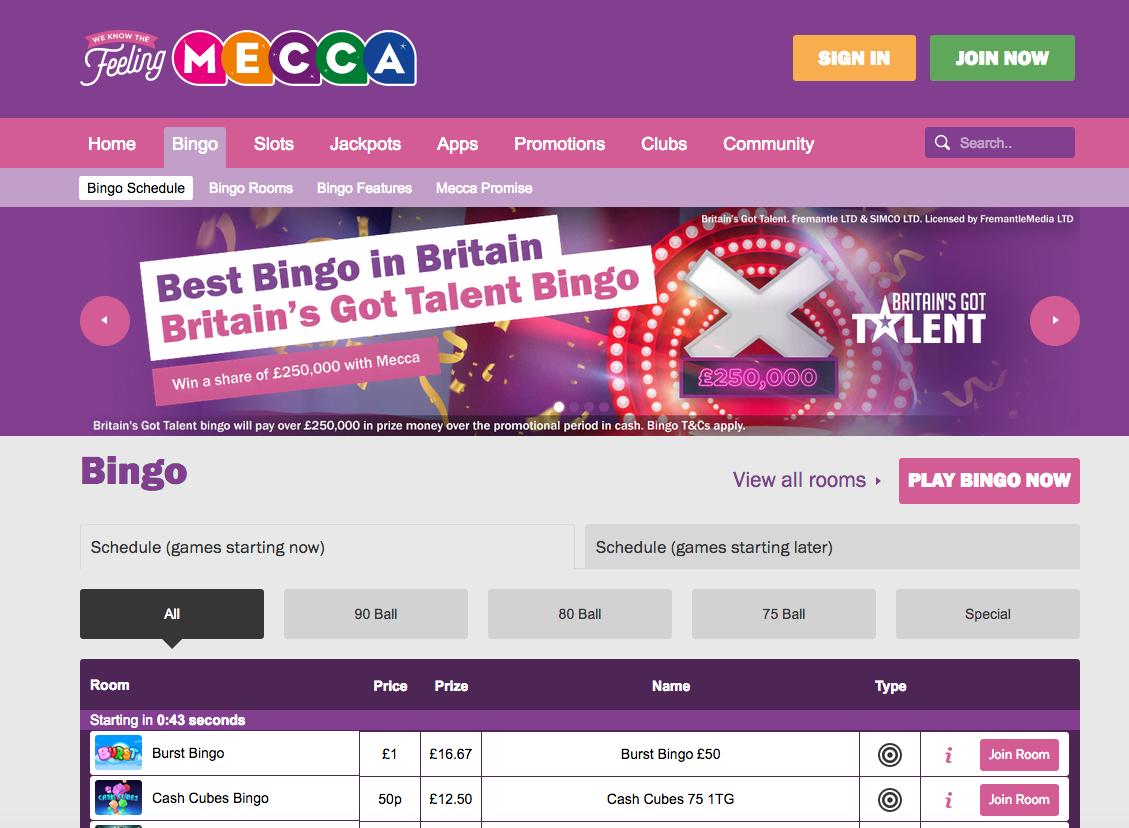 Mecca bingo slots promotions free bankroll poker sites